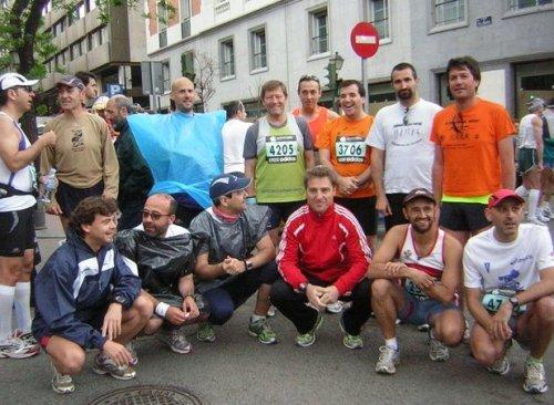 Paquetes maratonianos a puntito de empezar. Foto cortesía de Lola y Marta
